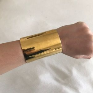 Michael Kors gold plated adjustable cuff bracelet